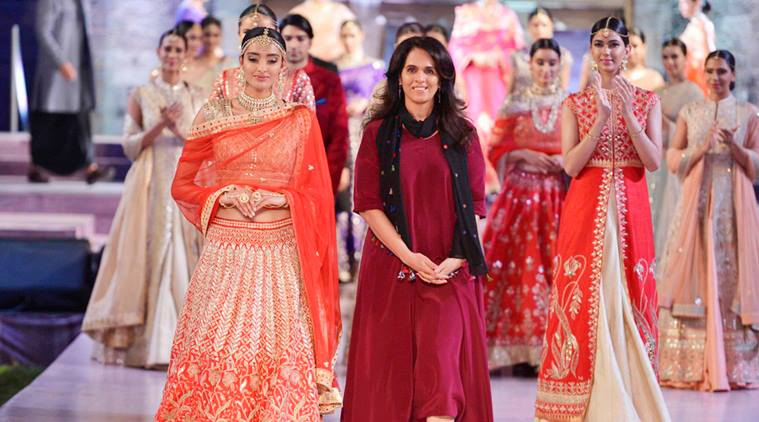 Designer Anita Dongre with her collection at the Make in India Week