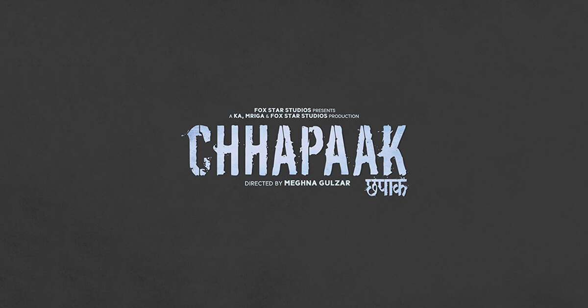 Chhapaak Cover